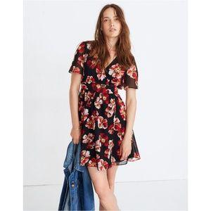Madewell Tulip-Sleeve Mini Dress in French Rose